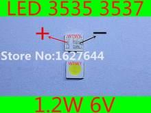Para sharp led tv lcd retroiluminação aplicação led 3535 3537 branco fresco de alta potência 1.2 w 6 v led retroiluminação led tv retroiluminação
