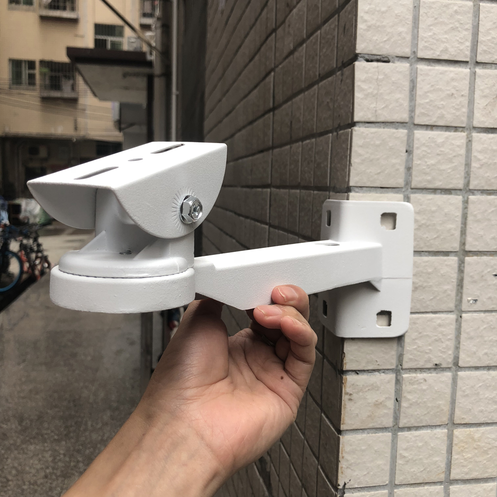 Security Surveillance Camera CCTV Bracket Outer Wall Corner Waterproof Bracket Aluminum Right Angle Arm Bracket free shipping universal metal white wall mount stand bracket for cctv security camera
