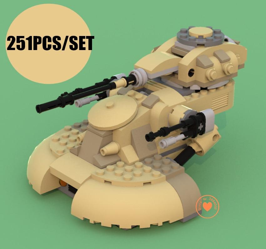 New AAT Tanks Building Blocks Bricks fit legoings star wars figures city technic Vulture robot kids Toys 75080 gift kid