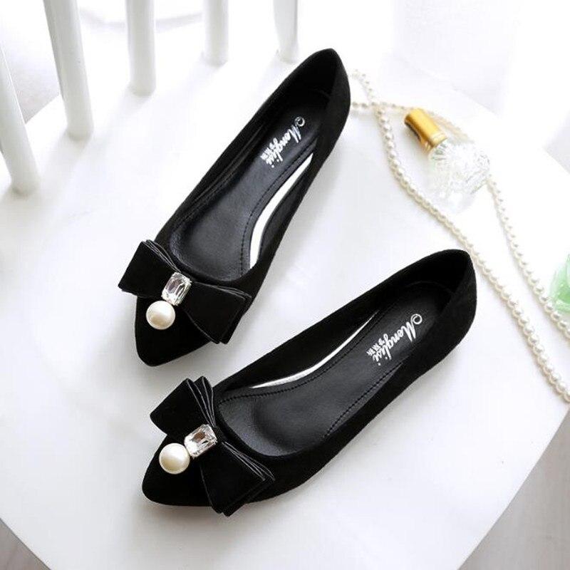Talon En Bouche Plat 33 Daim Taille Peu Gros 516 43 Femmes Bout Casual Chaussures Pointu Profonde Simples 17 Grande Appartements pS5EZvn