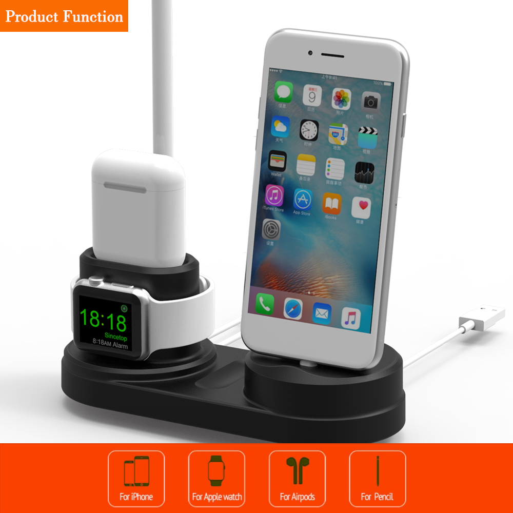 Charging Holder Stand Dock Station Bracket For Apple Watch and For AirPods For Iphone For iphone stand holder in Phone Holders Stands from Cellphones Telecommunications