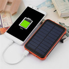 Super Thin Large Capacity Waterproof Portable Solar Power Bank Dual USB Solar Charger For Mobile Phones Compact Lightweight