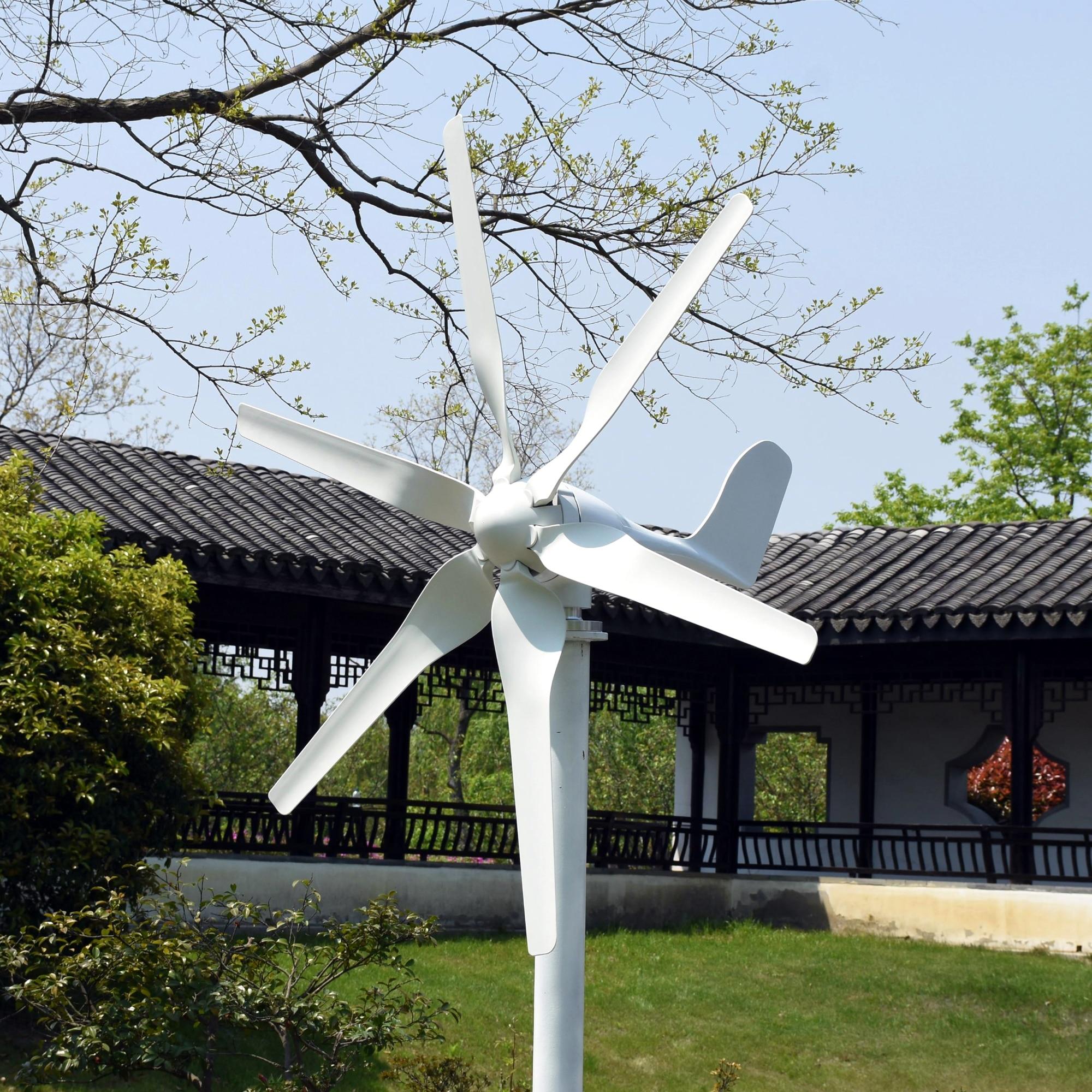Espagne entrepôt 800W 12V 6 lames horizontale éolienne générateur usage domestique + étanche MPPT BOOST vent chargeur contrôleur