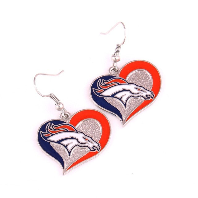 Denver Broncos Earrings Enamel Drop Charms For Football Women Fans Best Gifts