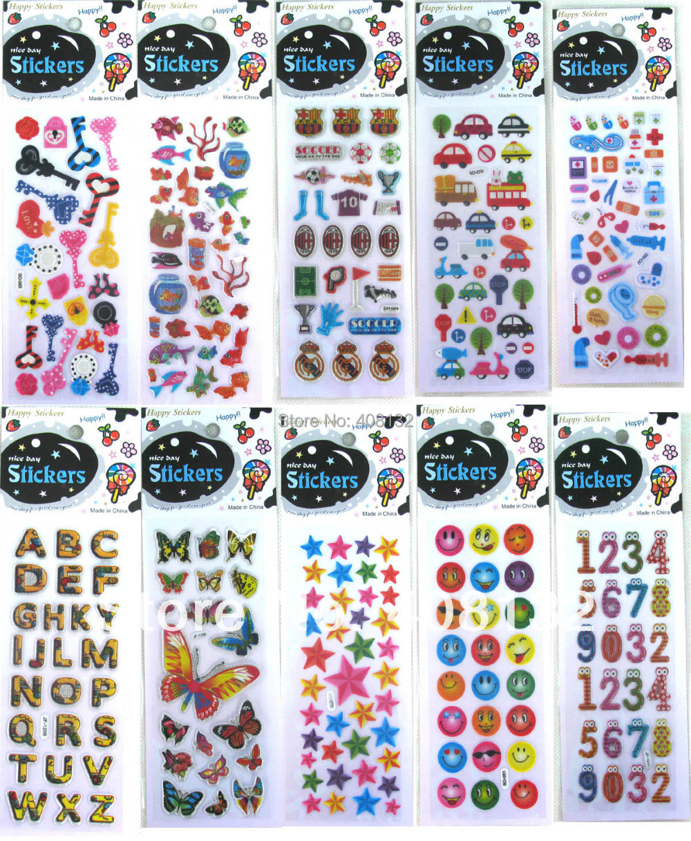 Free shipping 100 pcs creative 3d cellphone stickers childrens book phone background stickers in mobile phone stickers from cellphones telecommunications