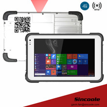2D barcode 8 inch 2GB 32GB windows 10 tough pad and rugged Tablets for outside working
