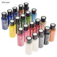 She Love 30ML piel pintura de Diy de cuero borde pintura Borde de tinte destaca profesional pintura acuarela líquido arte suministros