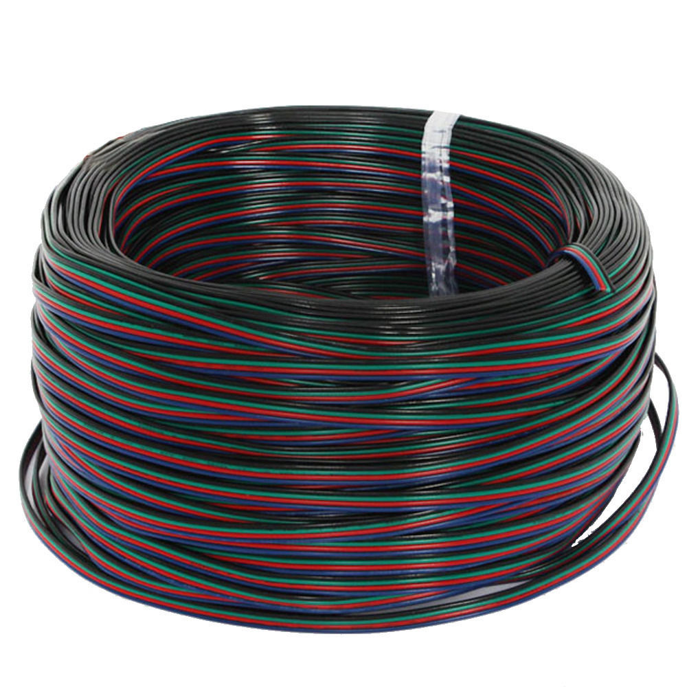 5M 2PIN 4PIN 5PIN LED Connector Extension Wire Cable For LED Strip Light  Signle Color And  RGB Color Strip
