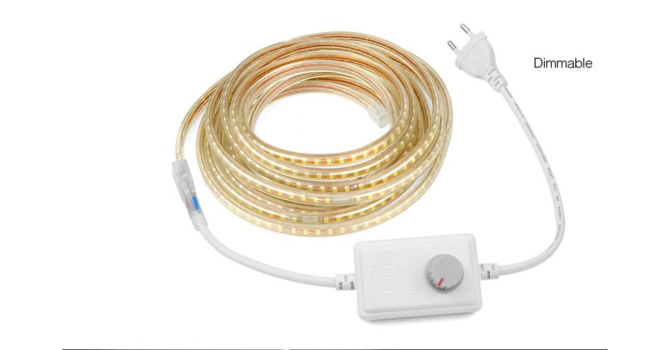 HTB1CQ8.hwn.PuJjSZFkq6A lpXaO AIMENGTE Super Bright SMD2835 Dimmable 220V LED Strip Light 1M/5M/10M/15M/20M/25M Kitchen Outdoor Garden Lamp Tape with EU Plug