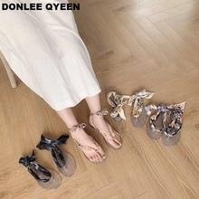 2019 New Summer Women Sandals Fashion Brand Ankle Strap Sandal Ribbon Shoes Flat Casual Slipper Beach Flip Flops sandalias mujer недорго, оригинальная цена
