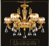 Free Shipping European Brass Antique Crystal Chandelier In Promotion Lamp E14 LED AC Brass Crystal Lamp Lustre Suspension Lights