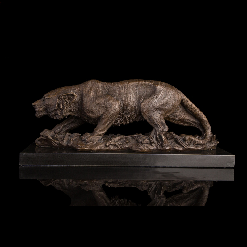 Arts Crafts Copper Hot sale Lost Wax Polishing Bronzes Tigers Statue Pure Handmade Hungry Tiger Bronze Sculpture Signed by BaryeArts Crafts Copper Hot sale Lost Wax Polishing Bronzes Tigers Statue Pure Handmade Hungry Tiger Bronze Sculpture Signed by Barye