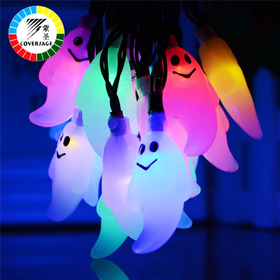 Coversage Halloween Fairy String Lights 10 Leds Battery AA Garden Party Luces Decoration Outdoor Light Curtain Led String Lights