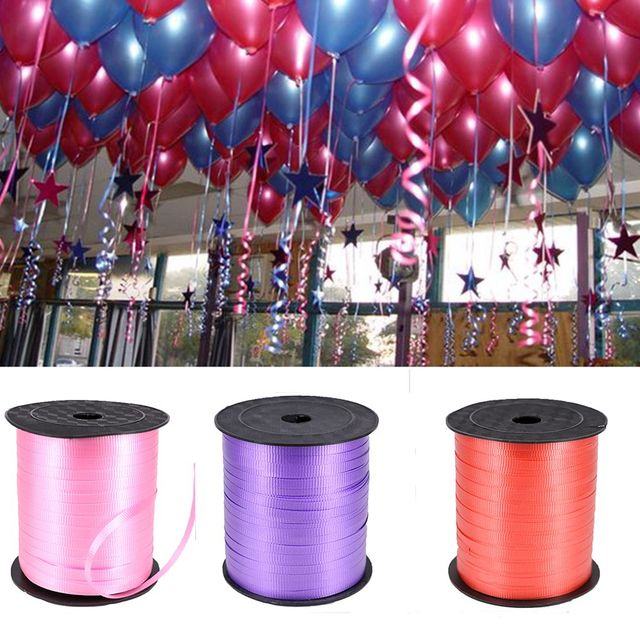 DIY Craft Colorful Gift Package Ribbon Balloon Cable Decorative Belt