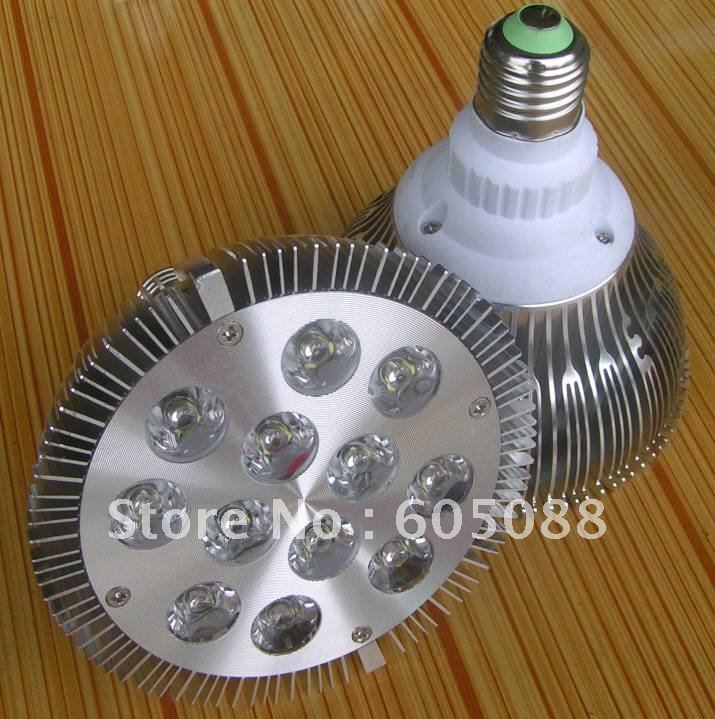 12x1w Par38 led spotlight E27 Bridgelux chips high power led bulb lamp white color AC85-265V CE&ROHS 40pcs/lot 2016 wholesale auxmart triple row led chips 12 led