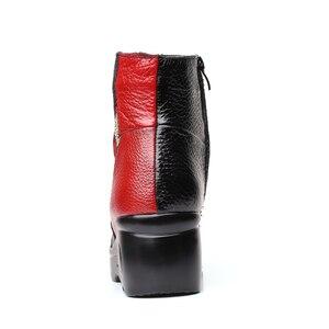 Image 5 - Xiuteng bottines dhiver pour femmes, chaussures avec broderie, talons plats occidentaux à plateforme, tailles 35 40, nouvelle collection 2020