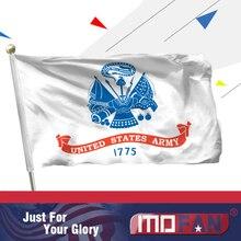 Mofan армии США флаг-холст заголовок и дважды сшитые США Военная Униформа флаги полиэстер с 2 Латунь Втулки 3x5ft indoor/Outdoor