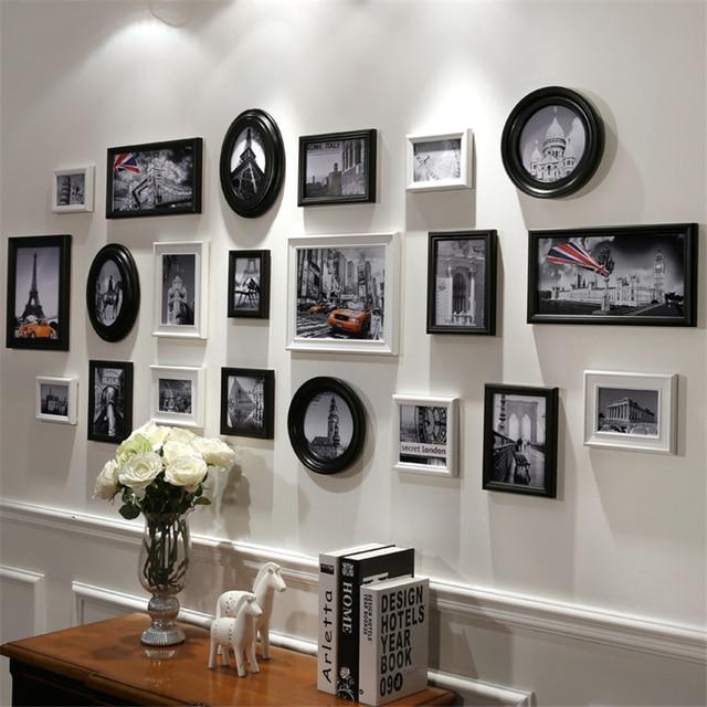 Ben noto In Bianco e nero Cornice di Legno Dipinto Cornice per Soggiorno  AV55