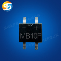 MB10F 0.5/0.8A 1000V rectifier bridge pile single - phase glass passivated rectifier
