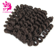 8 inch synthetic Jumpy Wand Curl Crochet Braids 20 Roots Jamaican Bounce Braiding Hair