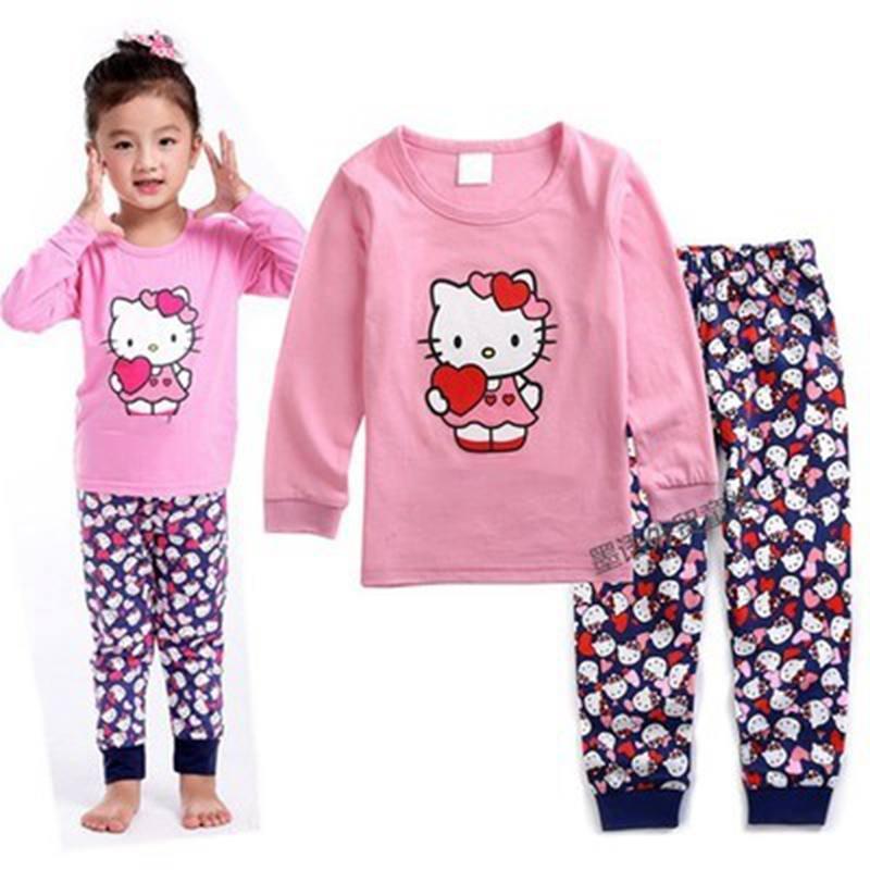 cc3eb2d12 New Children Pajamas Cotton Nightwear Princess Cartoon Loungewear Kids  Girls Homewear Spring Autumn Sleepwear Free Ship LP047-in Clothing Sets  from Mother ...