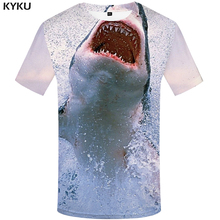 KYKU Shark T-shirt Men Fish Tshirt Animal 3d Print T Shirt Anime Clothes Tracksuits Fishinger Mens Clothing Summer Short Sleeve