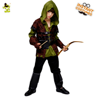 New Design Robin hood Deluxe Party Costumes Movie Role Cosplay Fancy Suit for Halloween Masquerade Party for Kids