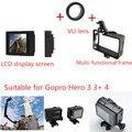 Gopro Acessórios HERO3 + 4LCD Tela + Gopro Expanded Edition Quadro (câmera + LCD BacPac) montar lente uv para gopro hero3 3 + 4