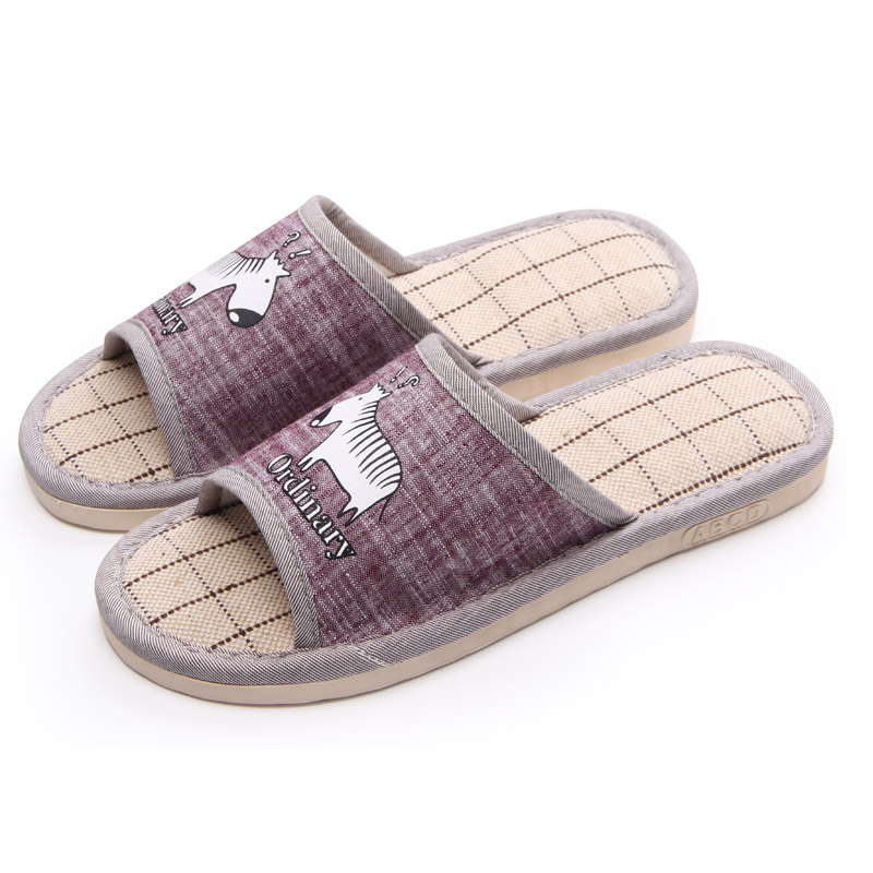 Home Lovers Linen Slippers 2017 New Arrival Indoor Slippers For Men Fashion Summer Flax Flat With Slide Shoes Sapato Masculino mashimaro new arrival men s linen slippers cotton fabric hemp slippers beach non slip indoor slippers men s fashion slippe
