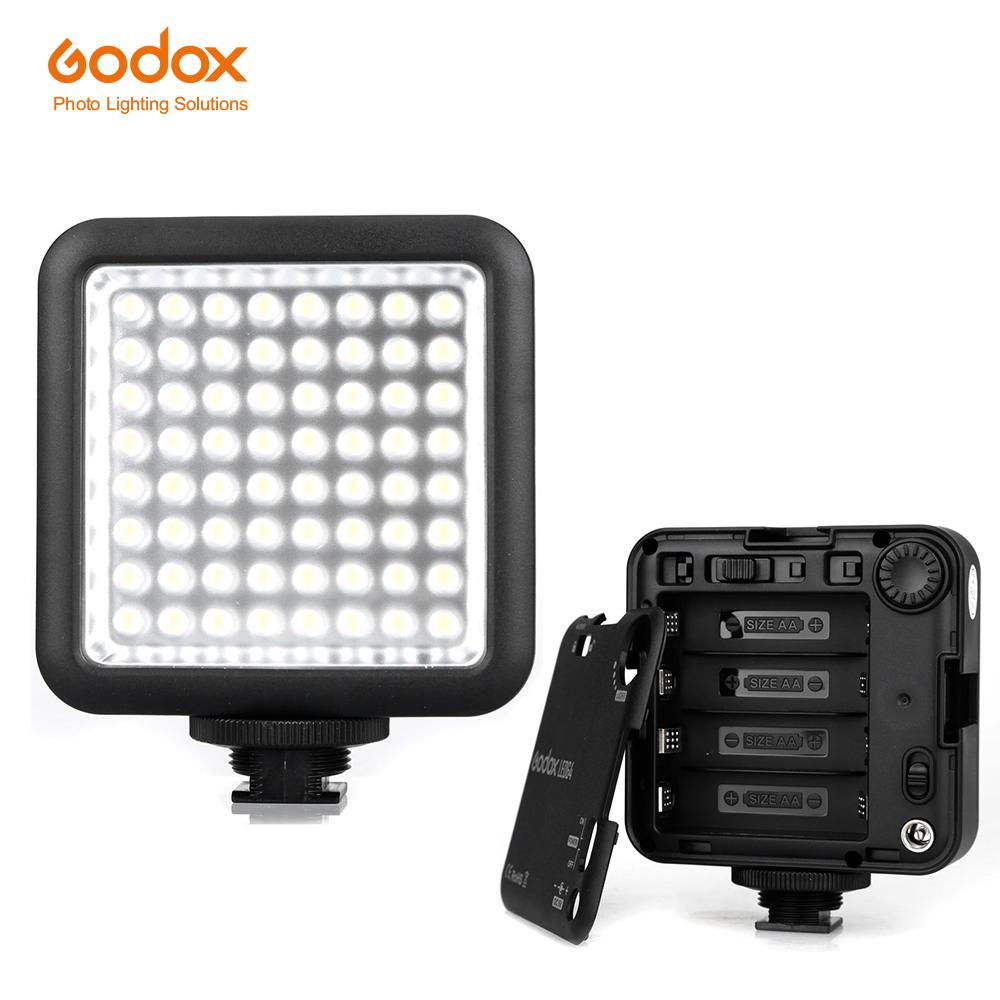 Prix pour Godox LED64 5500 ~ 6500 K Vidéo Lumière Universelle Professionnel pour Macrophotography Photojournalistic Vidéo de Tir