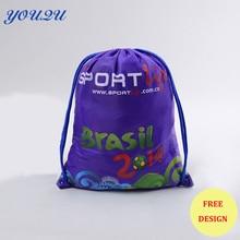 Оптовая продажа drawstring подарочные пакеты drawstring мешочек ткань drawstring сумка Drawstring сумка для путешествий Самая низкая цена + Escrow Принято