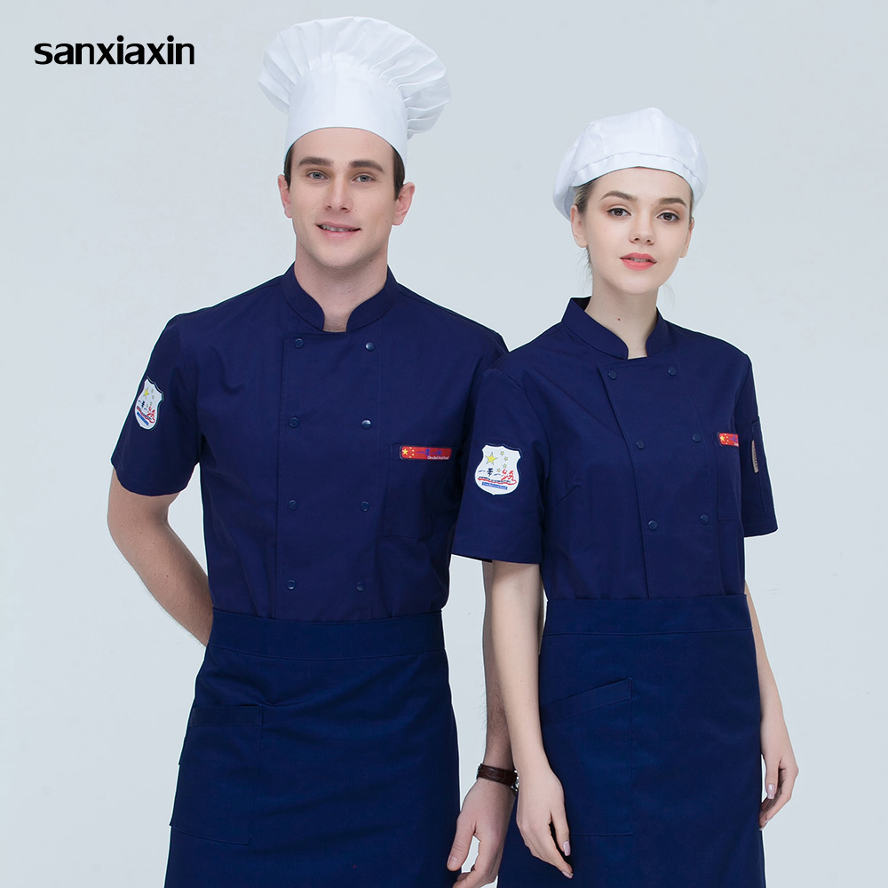 High quality restaurant hotel uniform catering chef Work shirt Restaurant Kitchen Chef Jacket Food Service cooker work clothes