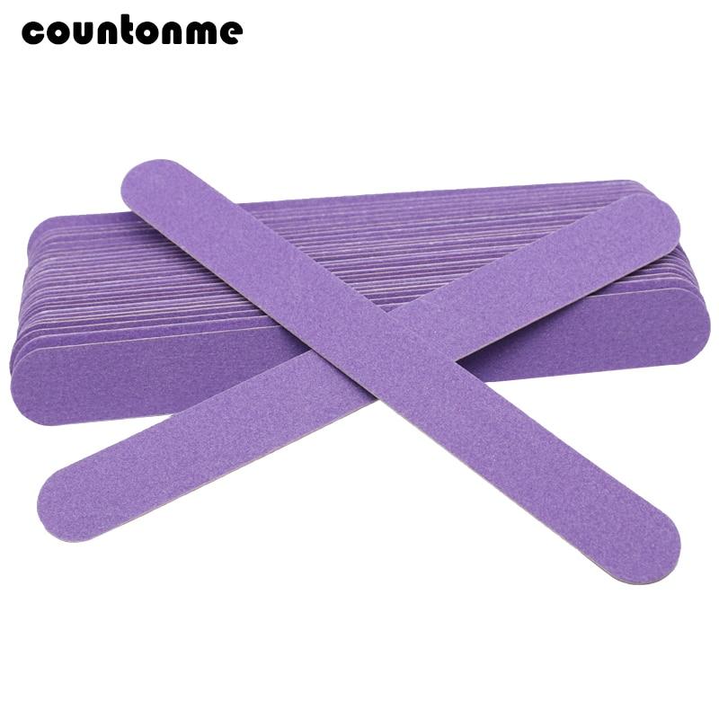 25pcs/lot Purple Thin Wood Nail File Disposable Sanding Files Buffing Nail Limas Para Manicura Pedicure Manicure Care Tools Saw