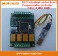 Rápido Envío Gratis Doméstica placa de control industrial PLC módulo de relé de retardo/controlador programable módulo de cable + FX1N-10MR 10MT