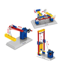 JOY MAGS Toy Engineering Series Elevator Lifts Building Blocks Mechanical Model Kids Toys Wange 1304 DIY Model Collection Gift