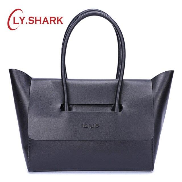 LY。サメ女性 2019 高級ハンドバッグ女性のバッグ本革の女性のハンドバッグ女性のショルダーバッグの女性のハンドバッグ  グループ上の スーツケース & バッグ からの ショッピングバッグ の中 1