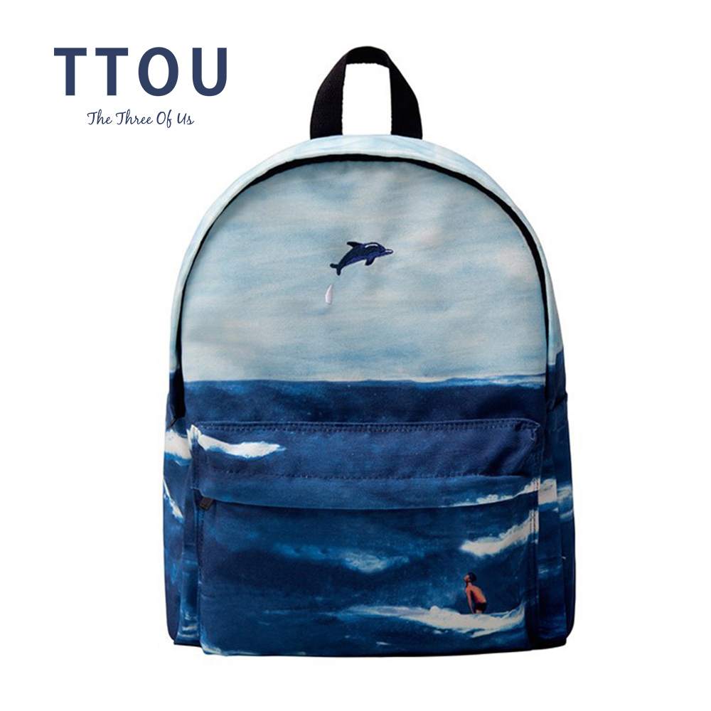 TTOU Women Canvas Backpacks Fashion School Backpack for Teenager Girls Casual Laptop Bagpack Female Travel Backpack forudesigns 3d printing backpacks for teenager boys girls anime pokemon naruto men felt backpack casual school bagpack mochilas