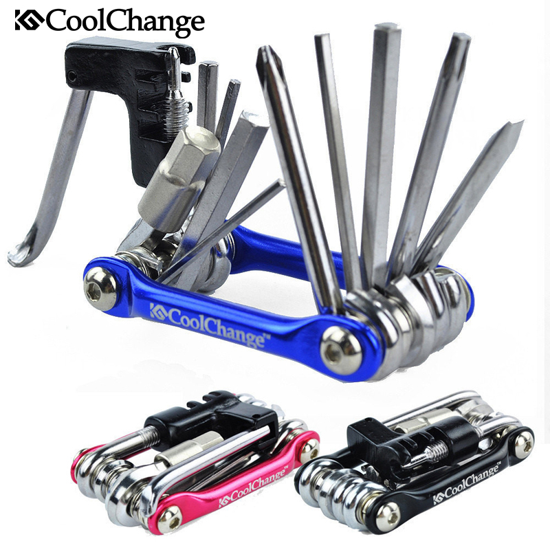 Coolchange 11in1 Multi-function Bike Bicycle Chain Rivet Extractor Cycling Repair Tools Kit 100% Brand New