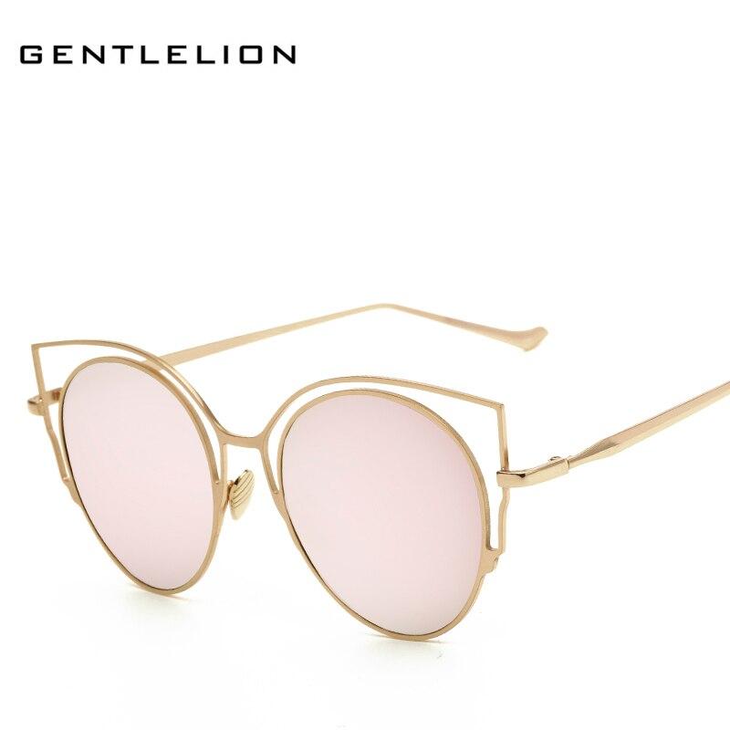 Moda señora Gafas de sol metal Marcos Sol gafas para las mujeres ...