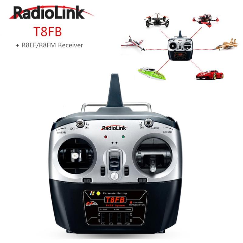 RadioLink T8FB 2.4 GHz 8ch RC transmetteur R8EH récepteur Combo télécommande Rontrol pour hélicoptère RC bricolage RC quadrirotor avion