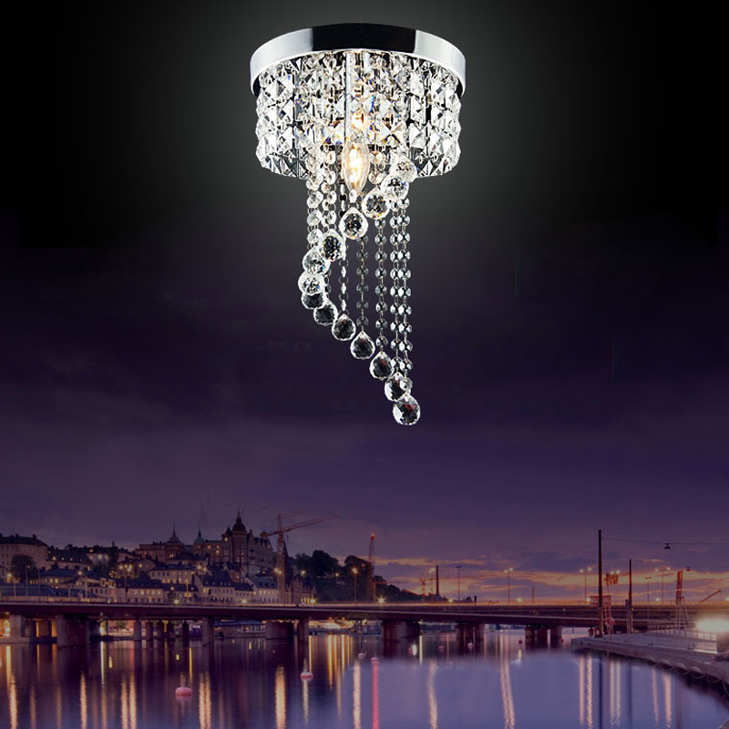 New Modern Aisle Lamp Luxury Surface Mounted Raindrop Crystal Ceiling Light For Indoor Balcony Corridor Hallway Lighting CL176 aisle lamp ceiling lamps hallway lighting crystal lustre luminarias para sala modern led crystal ceiling lights corridor balcony
