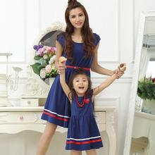 цена на Family Set Fashion Dress Mother Daughter Dresses Family Clothing Mom and Daughter Dress Clothes Family Matching Outfits ML07