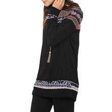8876d83b5037 Las mujeres suéteres Jersey de punto otoño 2019 Boho impreso de manga larga  o-Cuello superior suéteres mujeres de calle Casual d.