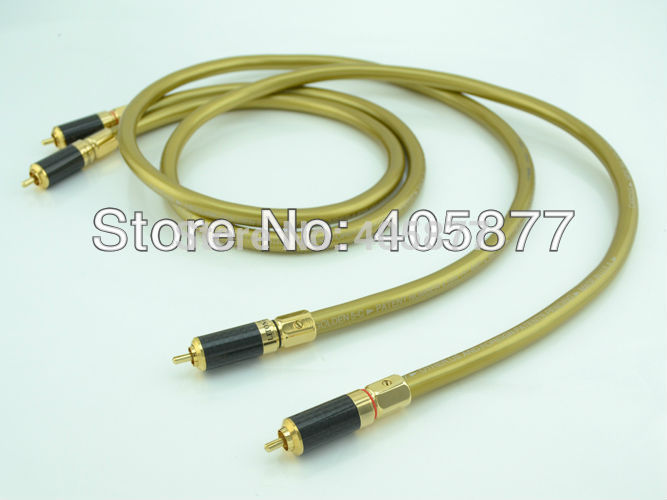 HI Fi cable pair viborg audio Hexlink Golden 5-C With carbon fiber RCA plug connector cable audio cable