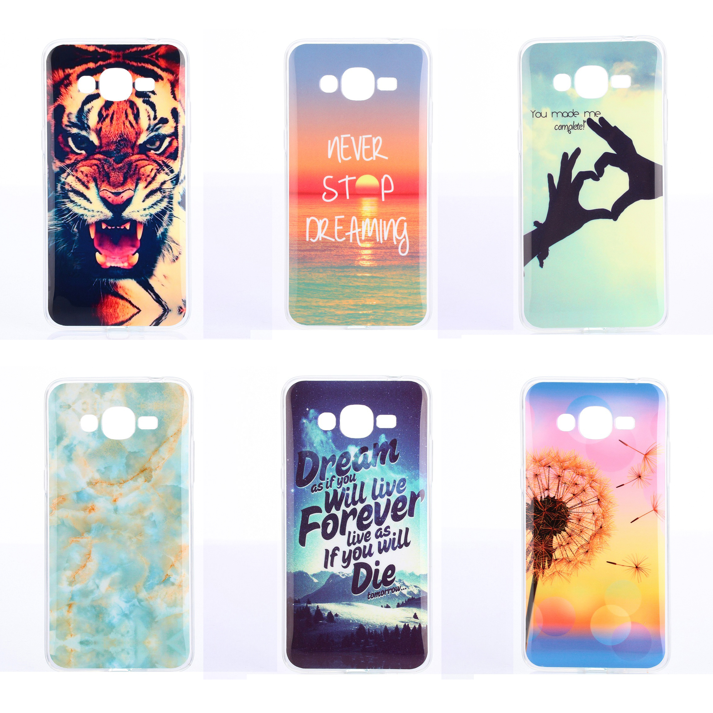 size 40 d7cbb 4038d US $1.62 |for Galaxy J2 Prime Case Silicone Back Cover Phone Case for  Samsung Galaxy J2 Prime G532F G532 SM G532F Bag TPU Owl Tiger Marble on ...