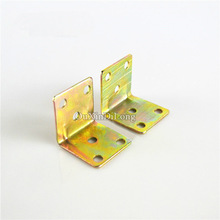 цена на HOT 500PCS 29*30mm Metal Right Angle Corner Braces Wooden Furniture Fixed Holder Brackets Shelf Support Furniture Connectors