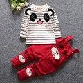 Crianças conjuntos de roupas de algodão marca a roupa do bebê de manga comprida t-shirt + calças 2 Pcs bebê Unisex conjuntos de roupas primavera criança roupas