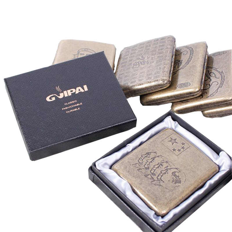 Detail Feedback Questions about Vintage Pure Bronze Cigarette Case