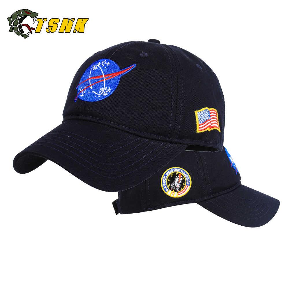 """TSNK Katoen Borduurwerk """"Aerospace/Ruimte vlucht"""" Snapback hoed Wandelen Caps Voor Mannen & Vrouwen"""