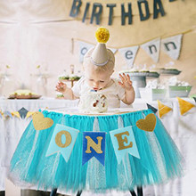 Birthday Party Baby Chair Flag Banner